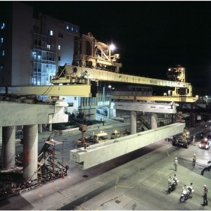 Beam Placing at night