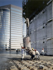 Concreting, Exchange Square, Hong Kong