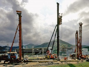 Drilling at Shatin Racecourse